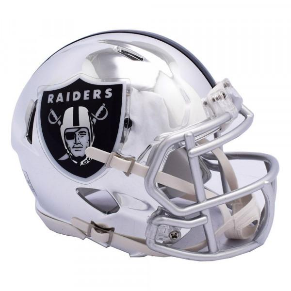 Discount Riddell Oakland Raiders NFL Chrome Alternate Speed Mini Helmet  hot sale