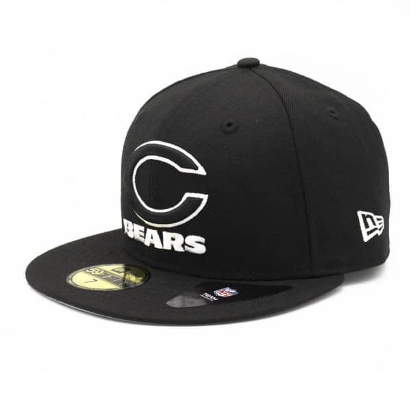 Chicago Bears Black & White 59FIFTY Fitted NFL Cap