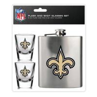 New Orleans Saints NFL Flachmann & Schnapsgläser Set