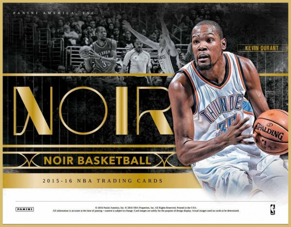 2015/16 Panini Noir Basketball Hobby Box NBA