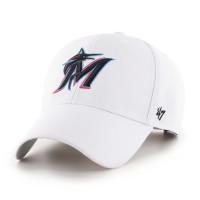Miami Marlins '47 MVP Adjustable MLB Cap Weiß