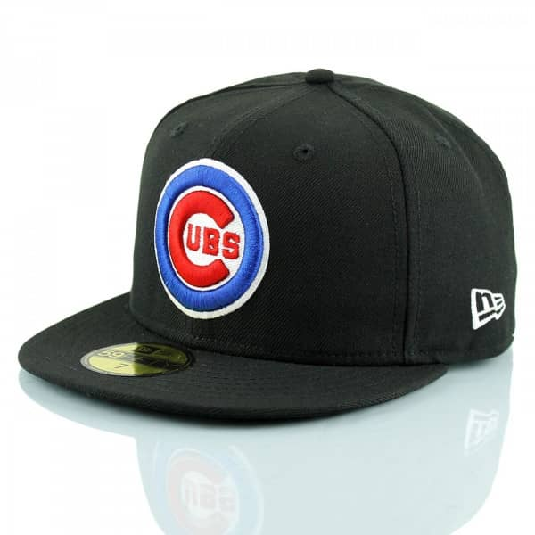b175811189b New Era Chicago Cubs Logo 59FIFTY Fitted MLB Cap Schwarz