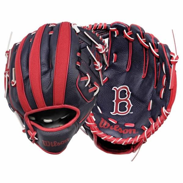 """Boston Red Sox 10"""" (25,40 cm) Tee-Ball-Handschuh A200 Rechtswerfer"""