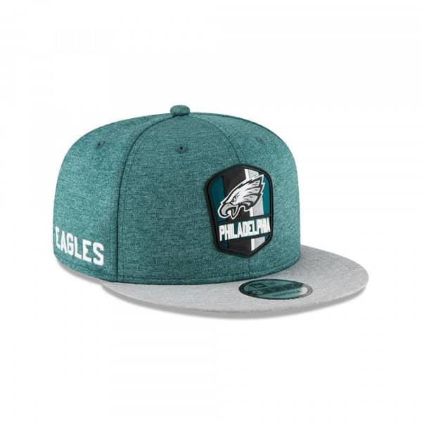 Philadelphia Eagles 2018 NFL Sideline 9FIFTY Snapback Cap Road
