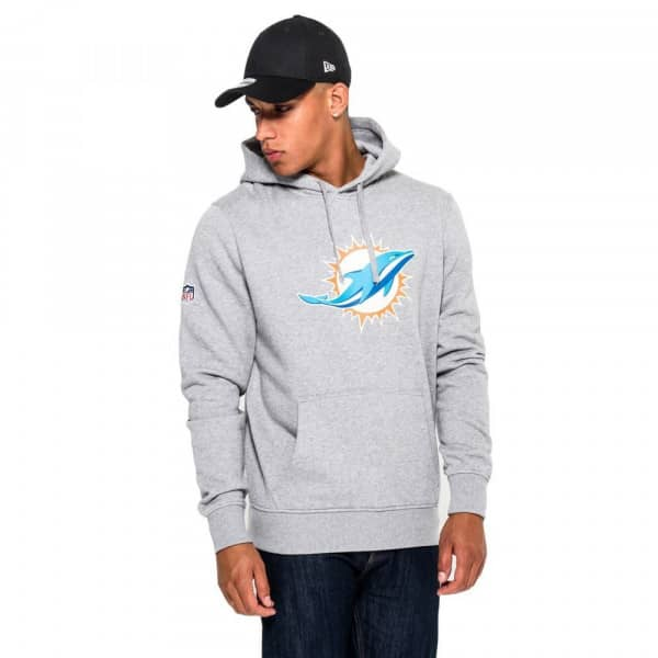 Nice New Era Miami Dolphins Logo Hoodie NFL Sweatshirt Grey |  hot sale