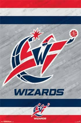 Washington Wizards Team Logo Basketball NBA Poster RP13778