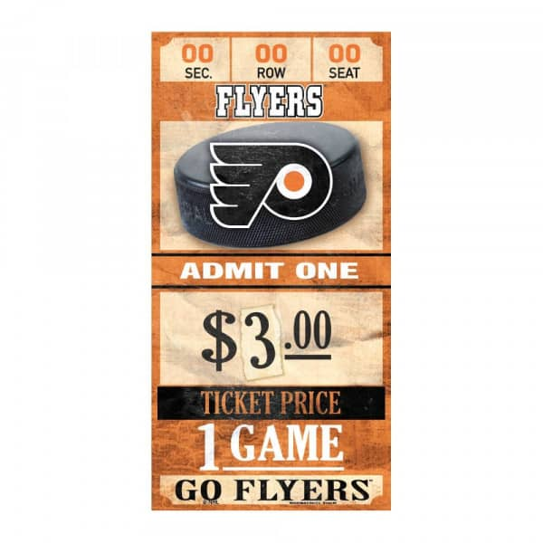 Philadelphia Flyers NHL Ticket Schild