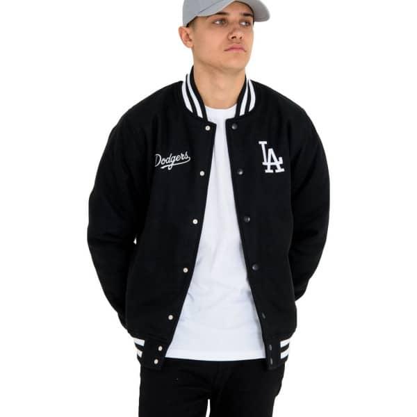 New Era Los Angeles Dodgers Team Apparel MLB Bomber Jacket Black ... b0900dbeb