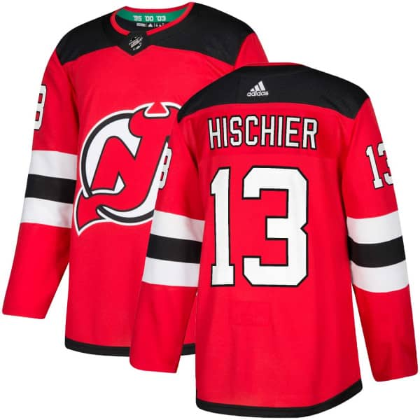 5fdb8be3e adidas Nico Hischier #13 New Jersey Devils Authentic Pro NHL Jersey Home |  TAASS.com Fan Shop