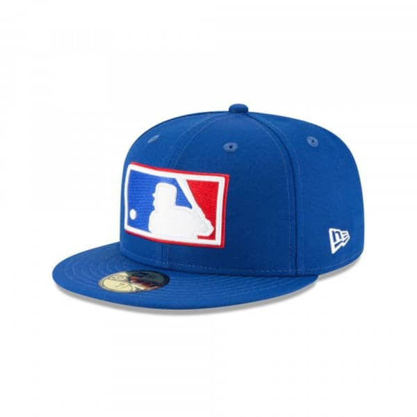 MLB Cooperstown Logo 59FIFTY Fitted Baseball Cap Blau