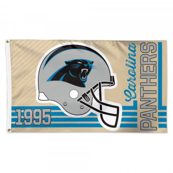Carolina Panthers Throwback WinCraft Deluxe NFL Hissfahne
