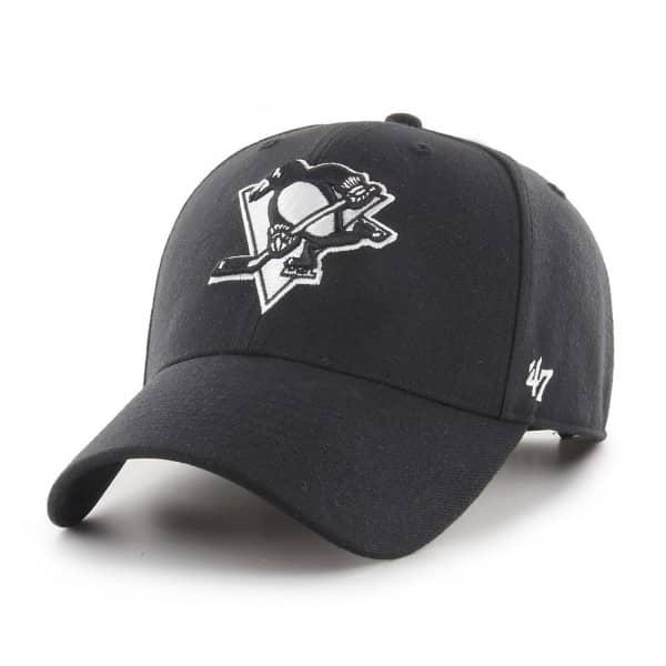 Pittsburgh Penguins Black & White MVP Snapback NHL Cap