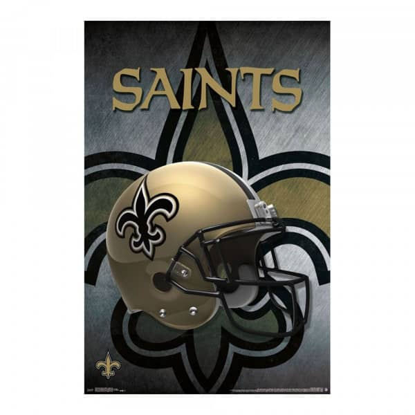 New Orleans Saints Helmet Football NFL Poster