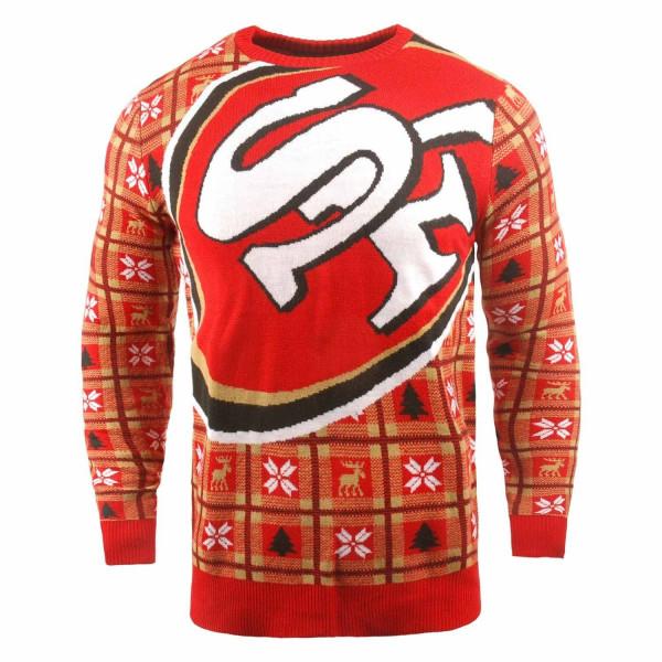 San Francisco 49ers Big Logo NFL Ugly Holiday Sweater