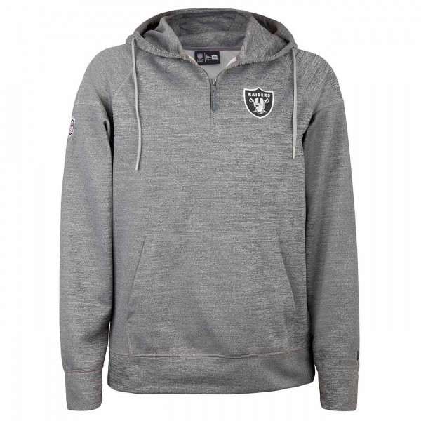 bbb02644 New Era Oakland Raiders Quarter-Zip Jersey NFL Hoodie Sweatshirt Grey |  TAASS.com Fan Shop