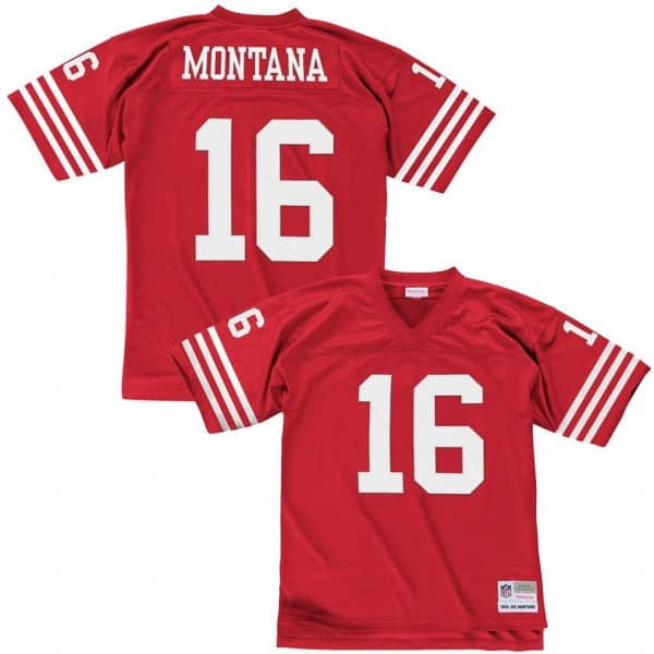 f9532f6eb21 Mitchell   Ness Joe Montana  16 San Francisco 49ers Legacy Throwback NFL  Jersey Red