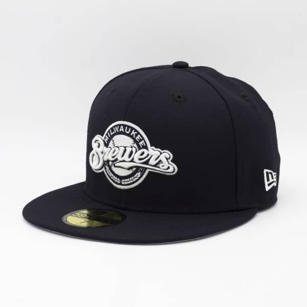 Milwaukee Brewers Alternate Logo 59FIFTY Fitted MLB Cap Navy