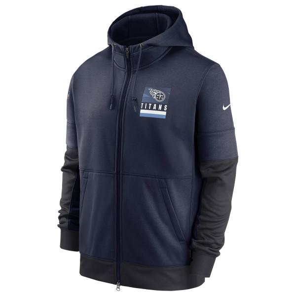 Tennessee Titans 2020 NFL Sideline Lockup Nike Therma Full-Zip Hoodie