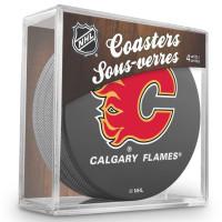 Calgary Flames NHL Eishockey Puck Untersetzer (4er Set)