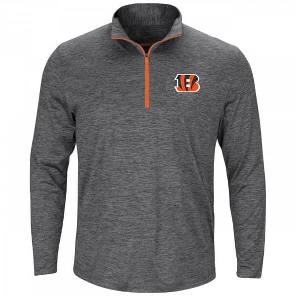 Cincinnati Bengals Intimidating 1/4 Zip NFL Long Sleeve Shirt