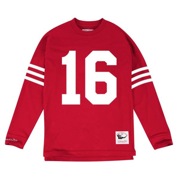 Joe Montana #16 San Francisco 49ers Throwback NFL Long Sleeve Shirt
