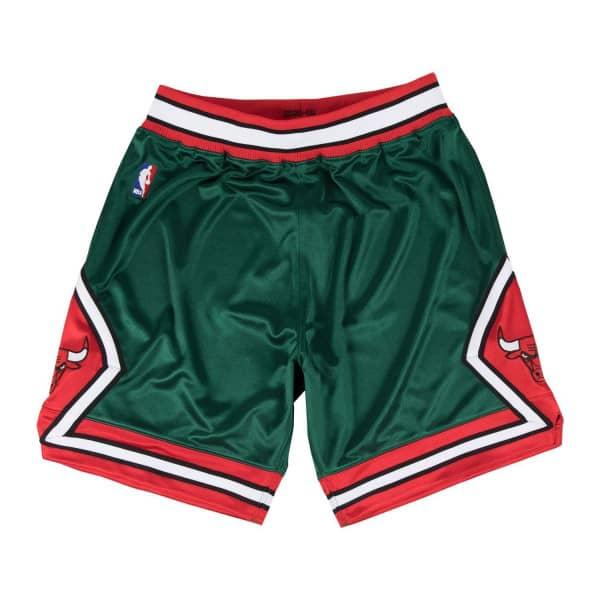 caa38a10867 Mitchell & Ness Chicago Bulls 2008-09 Green Week Authentic NBA Shorts |  TAASS.com Fan Shop
