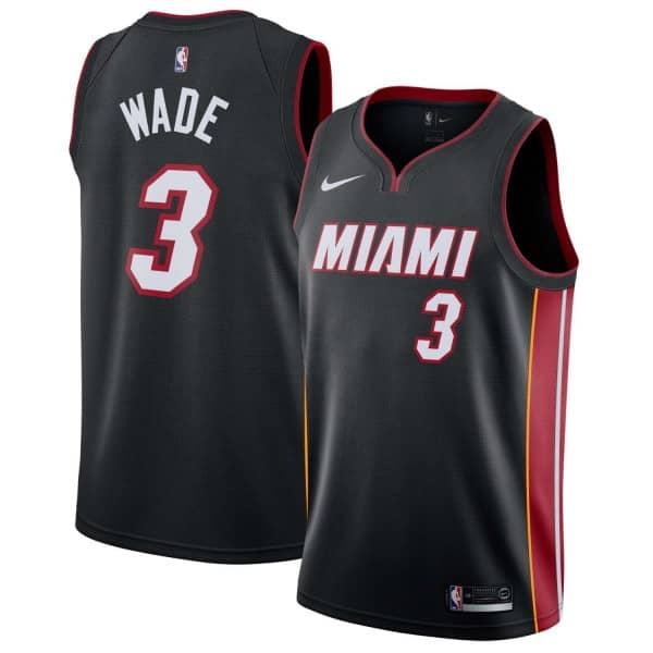 15540629d Nike Dwyane Wade  3 Miami Heat Icon Swingman NBA Jersey Black ...