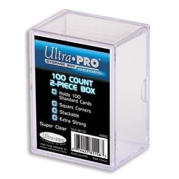 Ultra Pro Plastikkasten für 100 Karten - 2 Teile