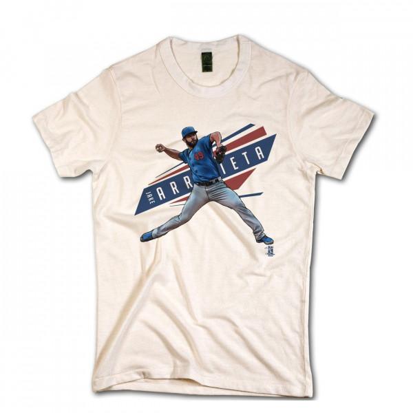 Chicago Cubs Jake Arrieta MLB T-Shirt Beige