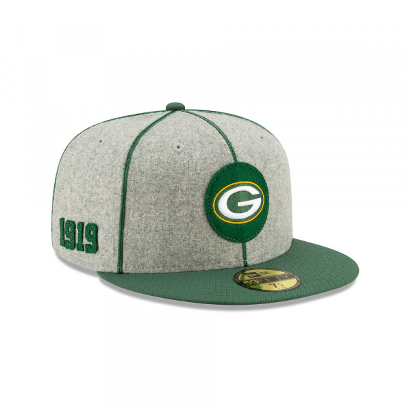 Green Bay Packers 2019 NFL On-Field Sideline 59FIFTY Fitted Cap Home