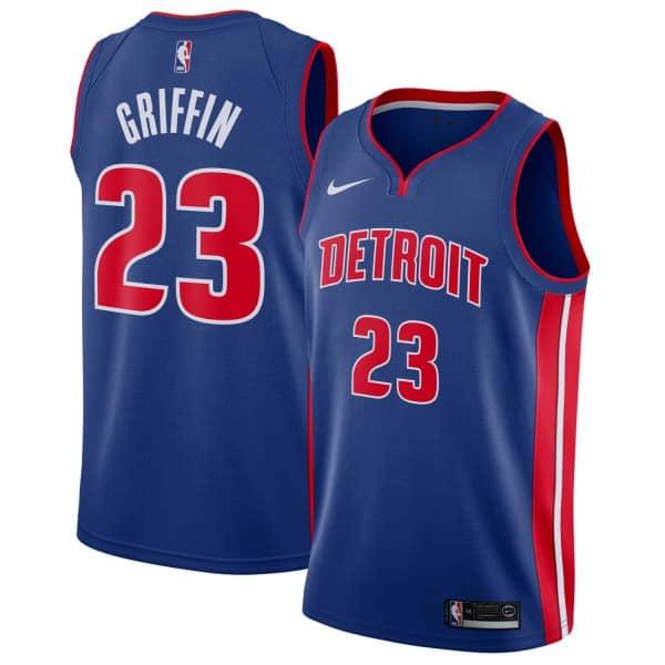 Blake Griffin #23 Detroit Pistons Icon Swingman NBA Trikot Blau