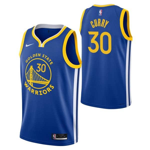 Stephen Curry #30 Golden State Warriors 2019/20 Youth Swingman NBA Trikot (KINDER)