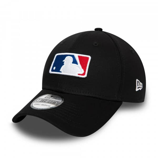 MLB Logo 39THIRTY Flex Cap Schwarz