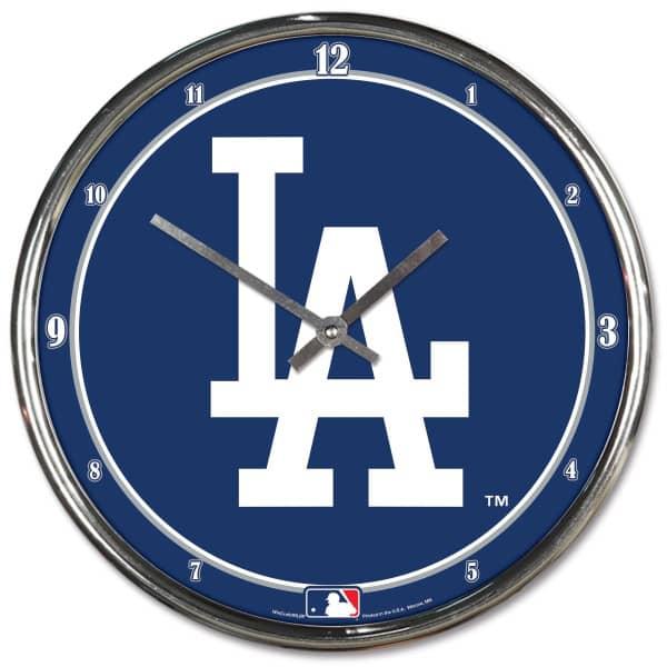Los Angeles Dodgers Chrome MLB Wanduhr