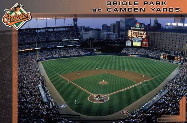 Baltimore Orioles Camden Yards Baseball MLB Poster RP3701