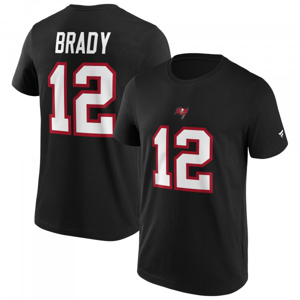 Tom Brady #12 Tampa Bay Buccaneers Fanatics Player NFL T-Shirt Schwarz