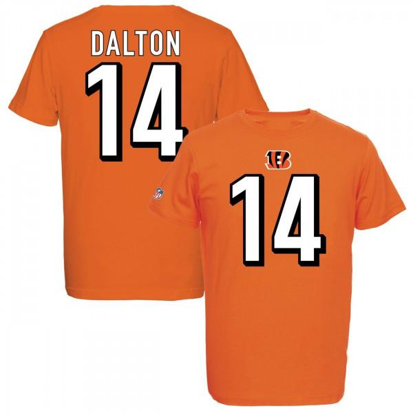 Andy Dalton #14 Cincinnati Bengals Eligible Receiver NFL T-Shirt Orange