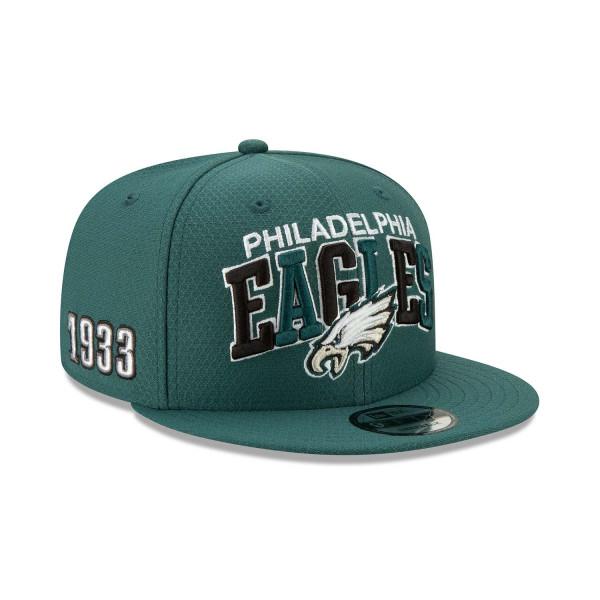 Philadelphia Eagles 2019 NFL 1990s Sideline 9FIFTY Snapback Cap Home