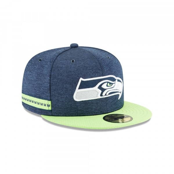 d24a363f New Era Seattle Seahawks 2018 NFL Sideline 59FIFTY Fitted Cap Home |  TAASS.com Fan Shop