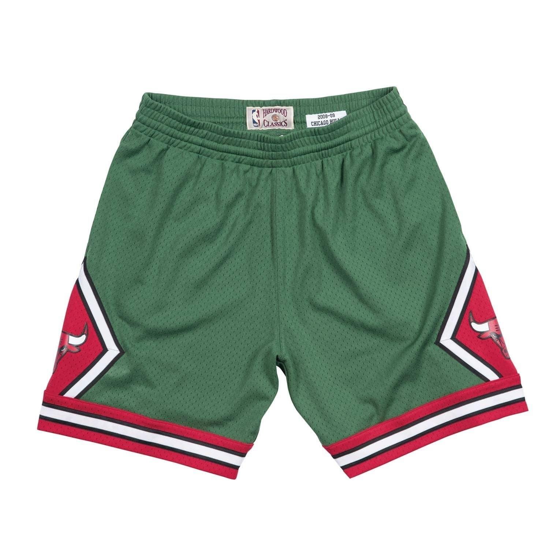 f20b080b4 Mitchell   Ness Chicago Bulls 2008-09 Green Week Swingman NBA Shorts ...