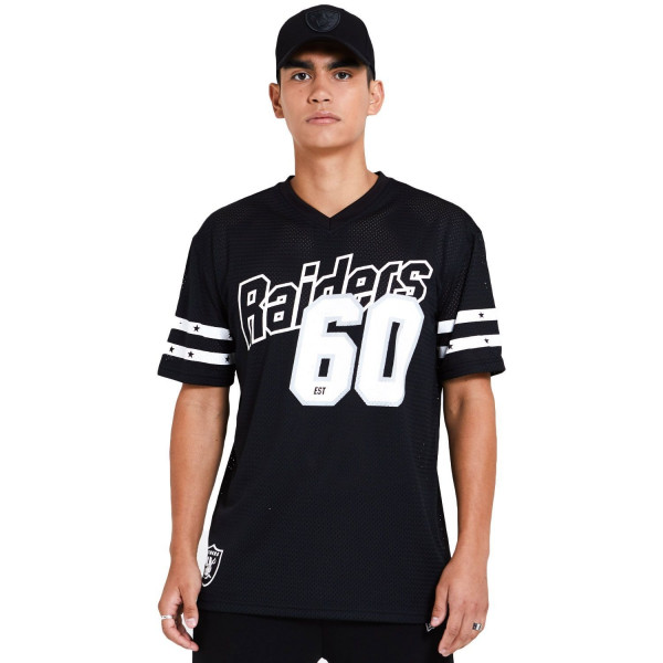 Las Vegas Raiders #60 New Era Stripe Oversized Mesh NFL Fantrikot