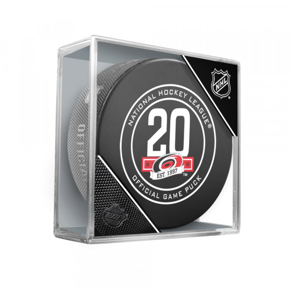 Carolina Hurricanes 20th Anniversary NHL Official Game Puck