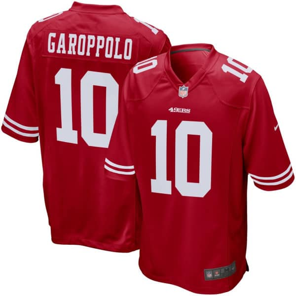 Jimmy Garoppolo #10 San Francisco 49ers Game NFL Trikot Rot
