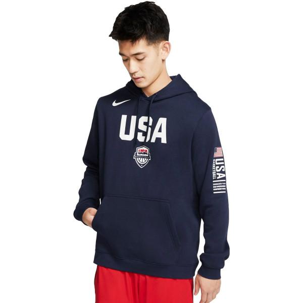 Team USA Club Logo Sweatshirt Hoodie Navy