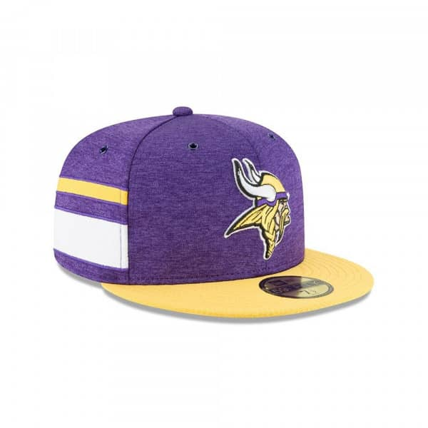 size 40 aea05 0c430 Minnesota Vikings 2018 NFL Sideline 59FIFTY Fitted Cap Home