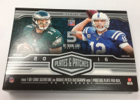 2016 Panini Plates and Patches Football Hobby Box NFL