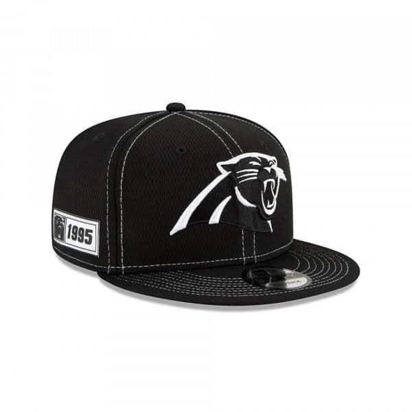 Carolina Panthers 2019 NFL Sideline Black 9FIFTY Snapback Cap Road