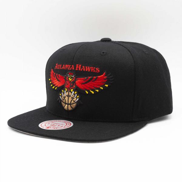Atlanta Hawks Wool Solid Mitchell & Ness Original Fit Snapback NBA Cap