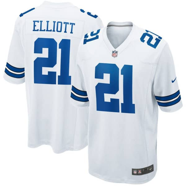 Ezekiel Elliott #21 Dallas Cowboys Nike Game NFL Trikot Weiß