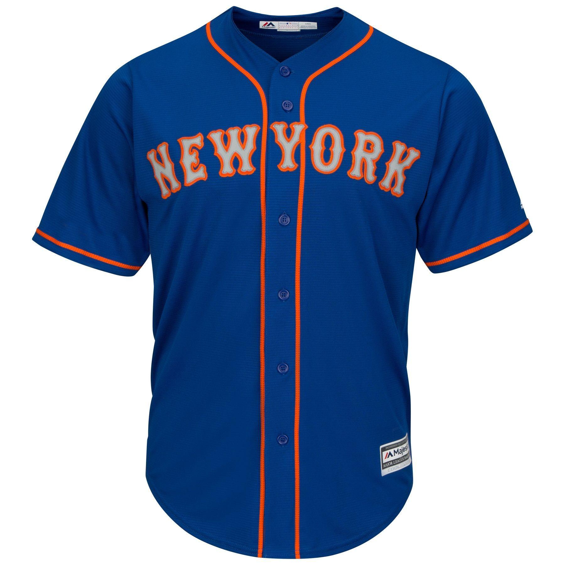 low cost 9313f d4fc9 New York Mets Cool Base MLB Trikot Alternate Road Blau
